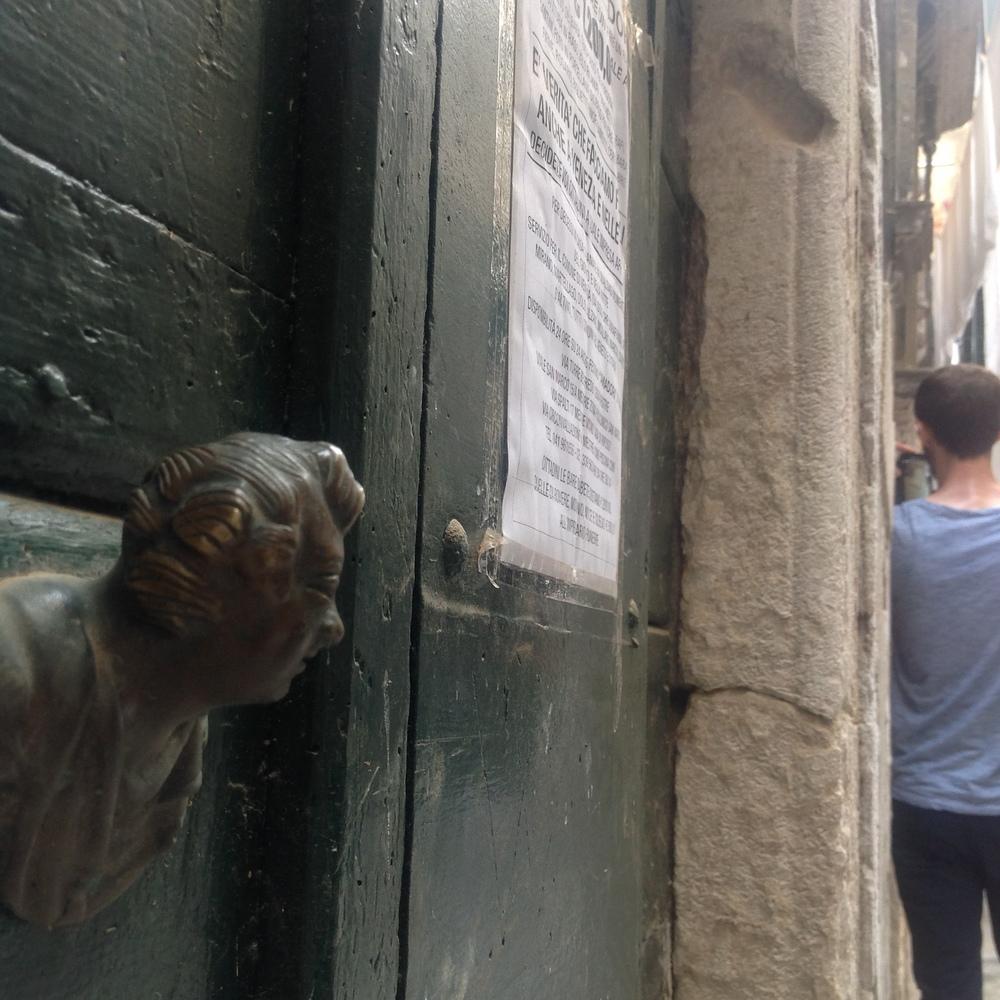 Missing Mezuzah,Ghetto Novissimo, Venice, Italy