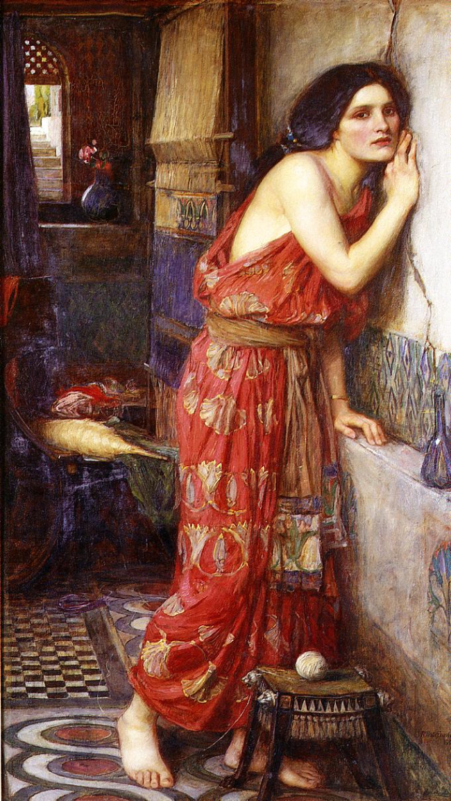 Thisbe, John William Waterhouse Also known as 'The Listener'