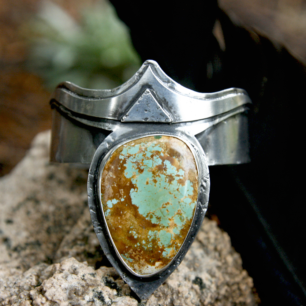 with New Mexico Hachita turquoise
