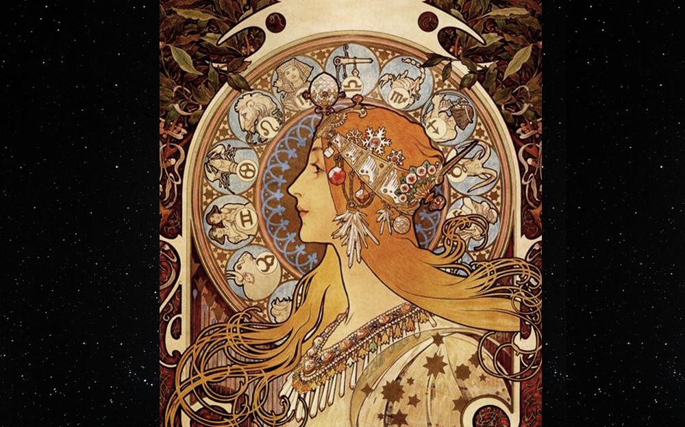 Zodiac, Alphonse Mucha