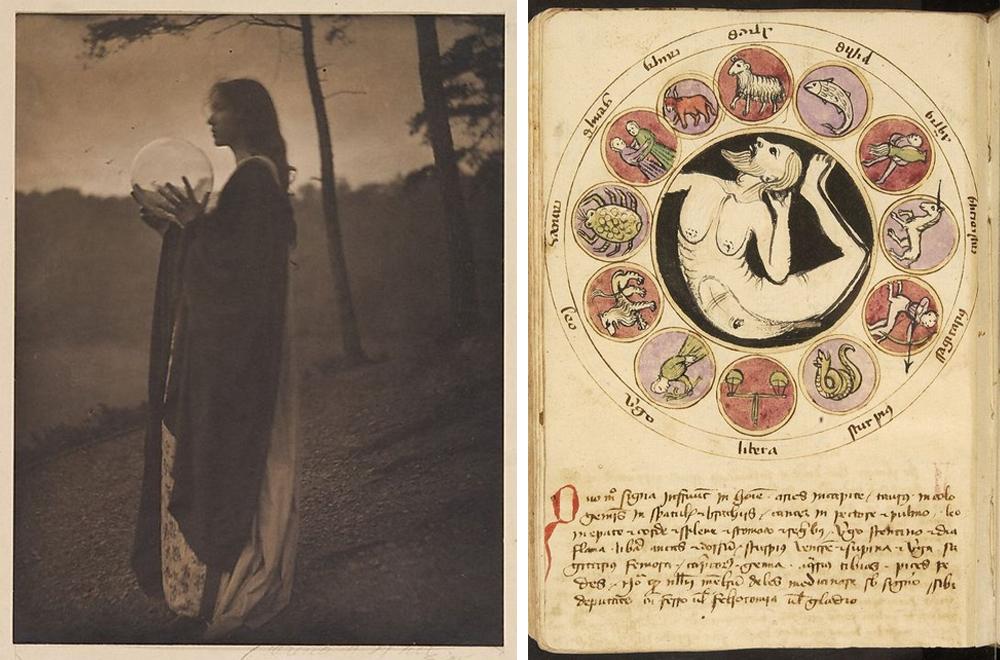 Clarence Hudson White, The Watcher, 1906 Nuevo tratado sobre astronomía, Raimundo Lulio, circa 1232-1316