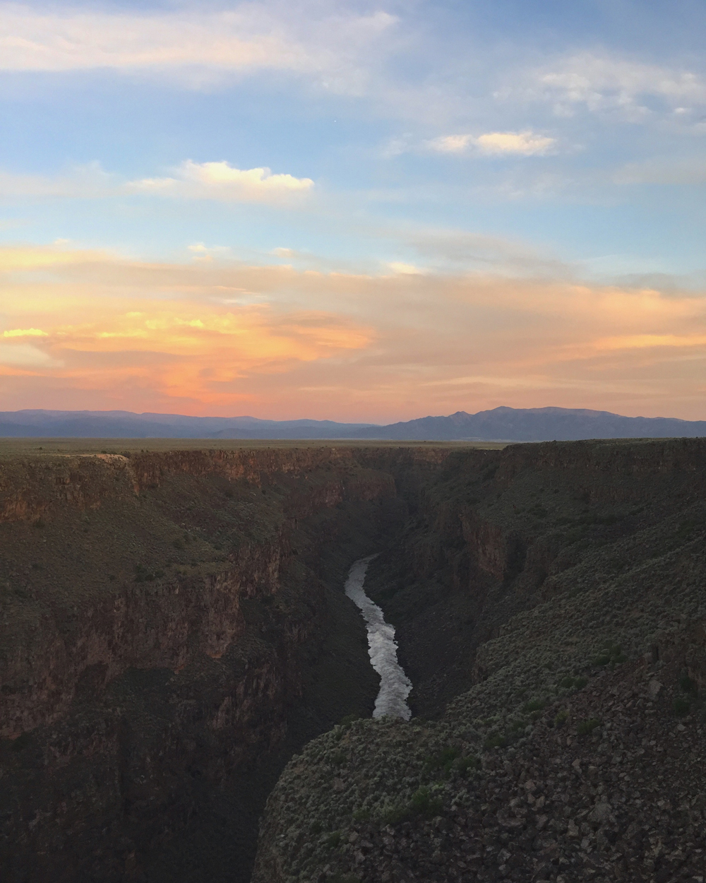 The Rio Grande Gorge, water through rock