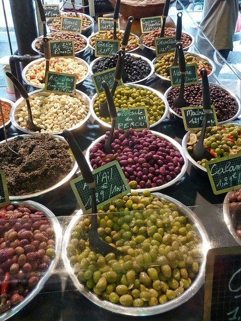 variété d'olives