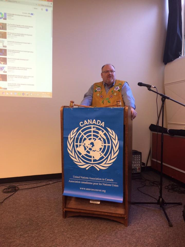 keynote speaker at Un YOuth Conference