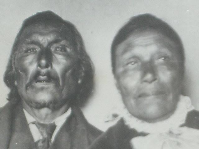 GREAT-GREAT GRANDPARENTS JACOB AND SARAH NANAWIN, WEDDING PHOTO 1900