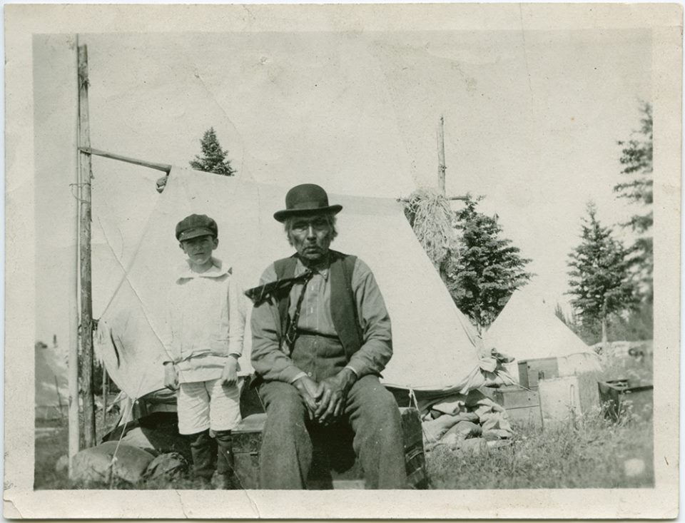 GREAT-GREAT GRANDFATHER JACOB NANAWIN,  POPLAR RIVER dOMINION DAY 1918