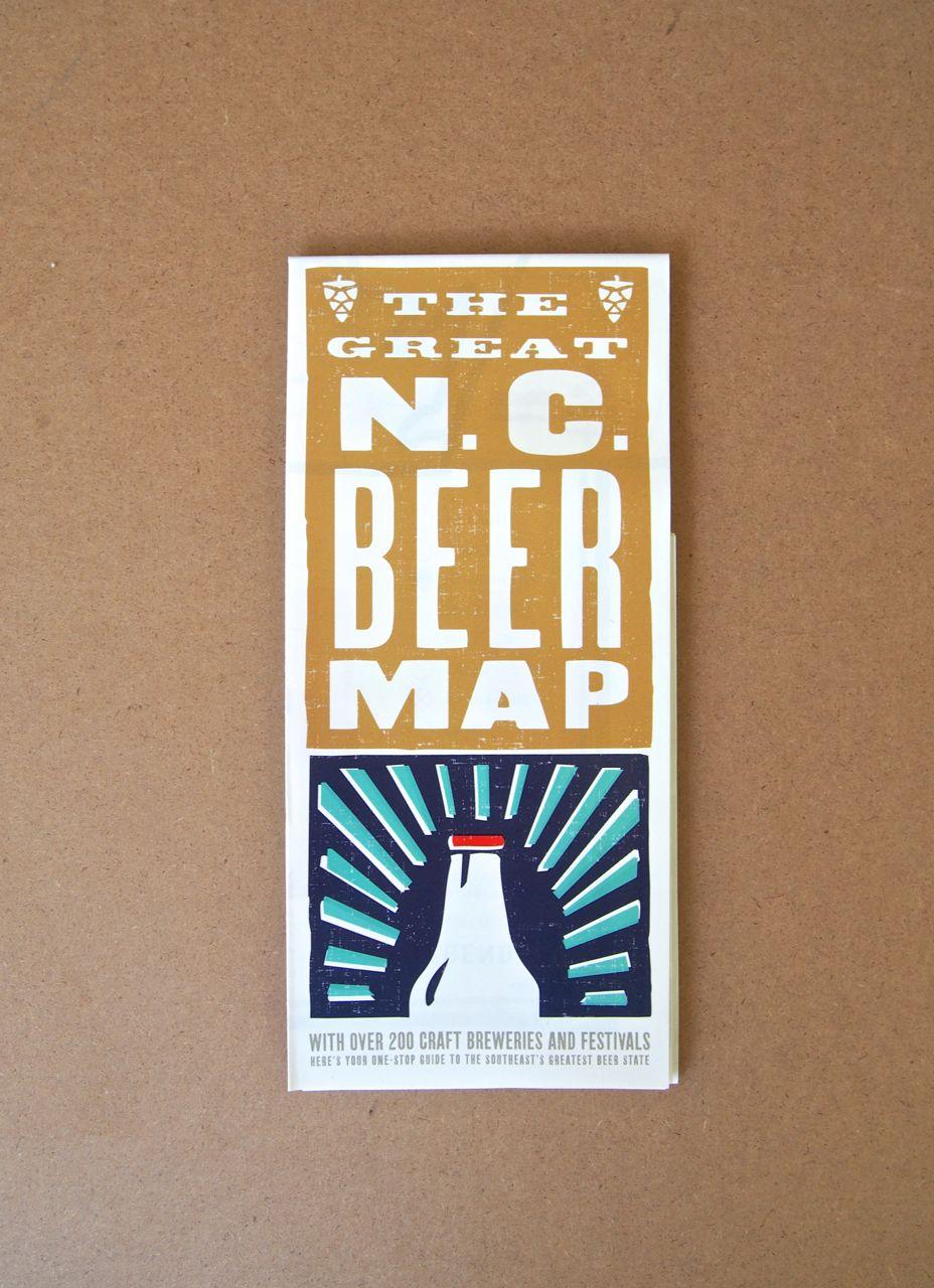 EDIA Maps Explore NC Beer and NC BBQ – North Carolina Travel Map