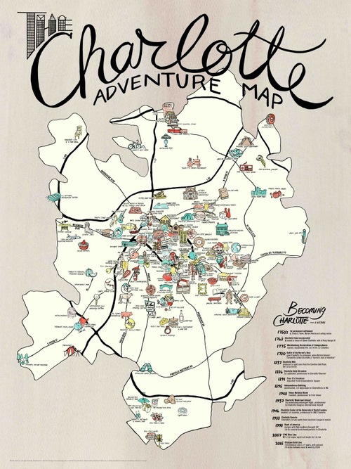 Charlotte adventure poster 2nd edition edia maps nc sc charlotte adventure poster 2nd edition gumiabroncs Gallery