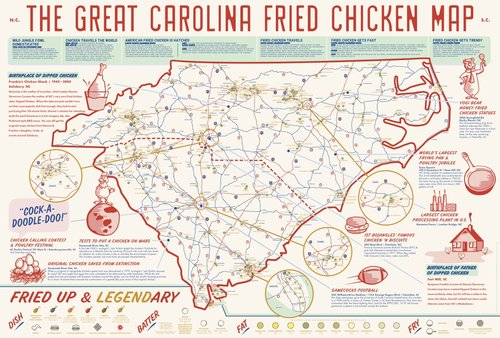 Poster Nc Sc Fried Chicken Edia Maps Nc Sc Food