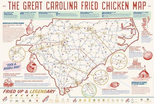 Shop EDIA Maps NC SC Food Adventure Maps - Maps of nc