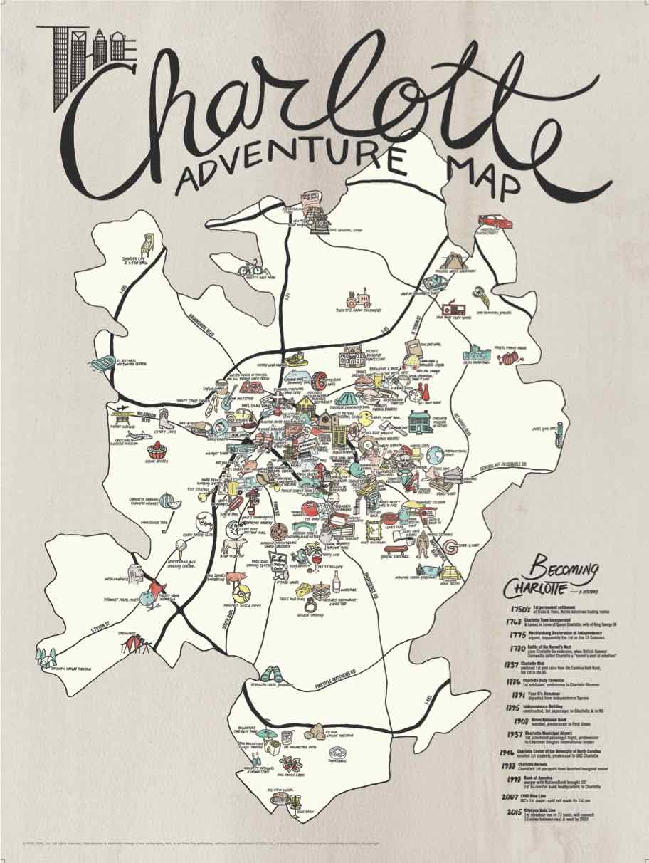 Charlotte Adventure Map >> ediamaps.com