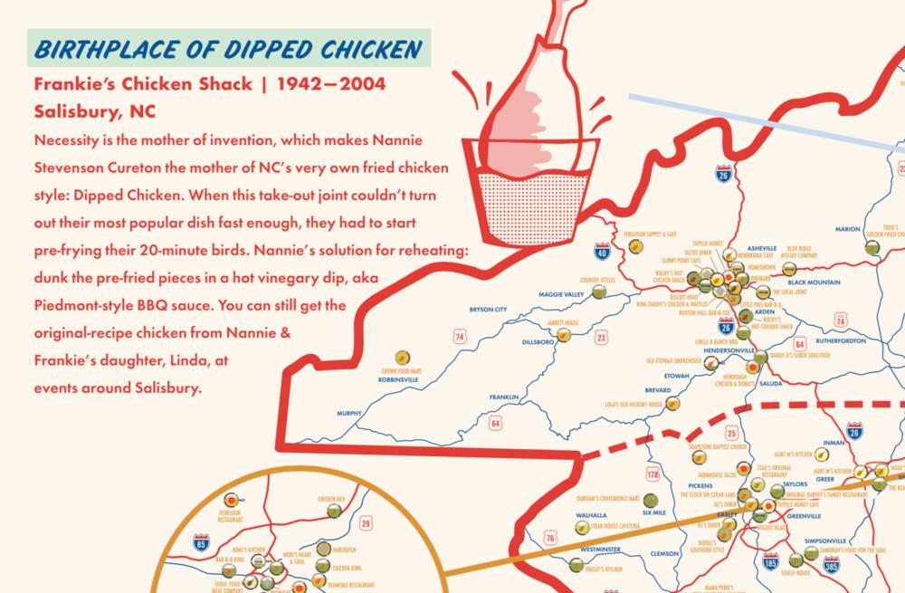 Carolina Fried Chicken Map >> ediamaps.com