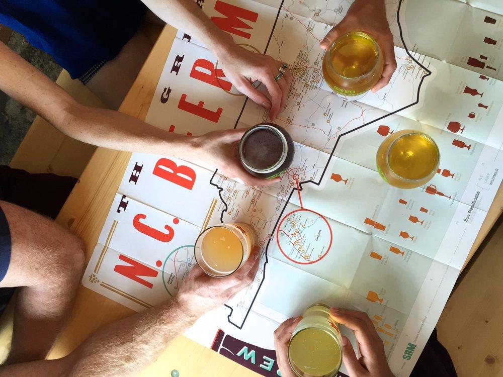 Great NC Beer Map >> ediamaps.com
