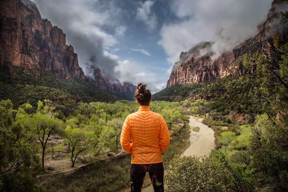 Caitlin Soaking in Zion