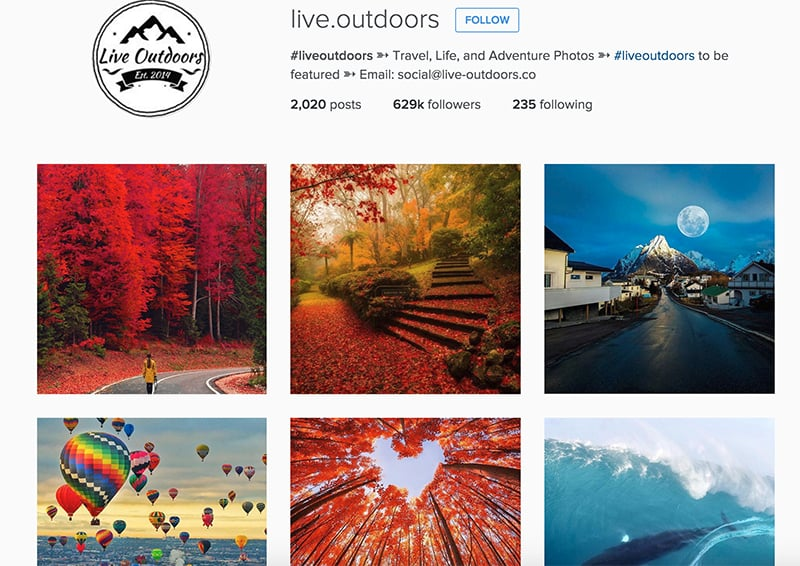 Live Outdoors at Instagram