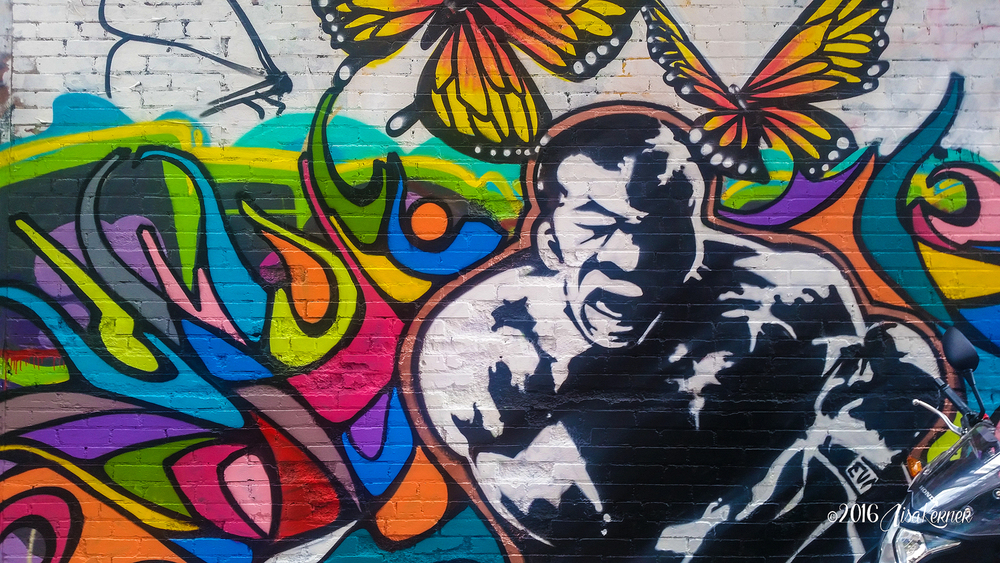"Art Alley, Rapid City, S.D.  ""Float Like a Butterfly, Sting Like a Bee"""