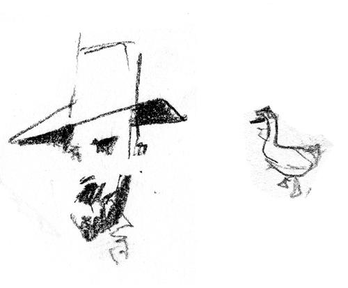 man+goose