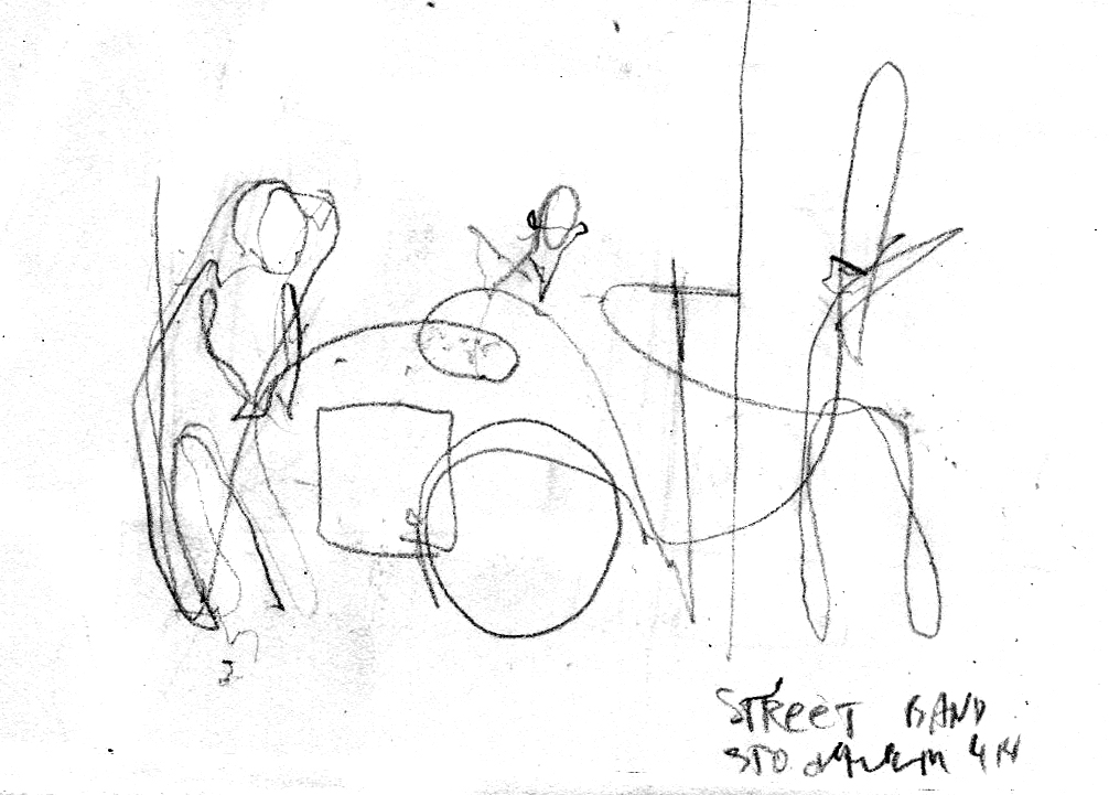 Stockholm street band drawing