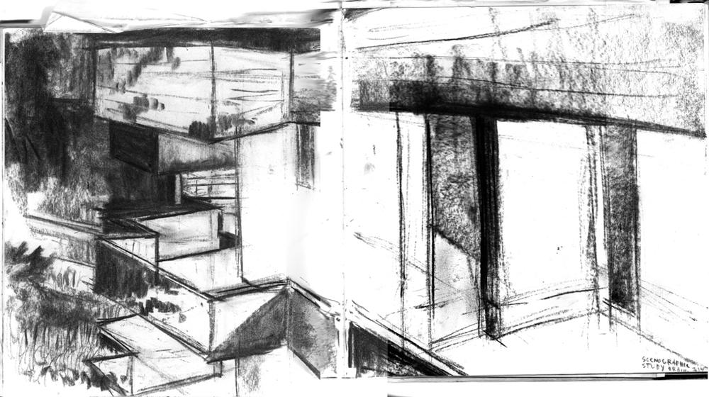 Urbino dorm - study for scenography