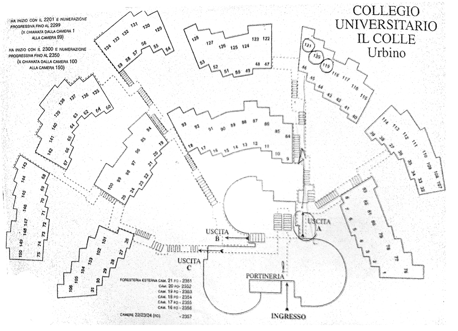 Urbino dormitory plan