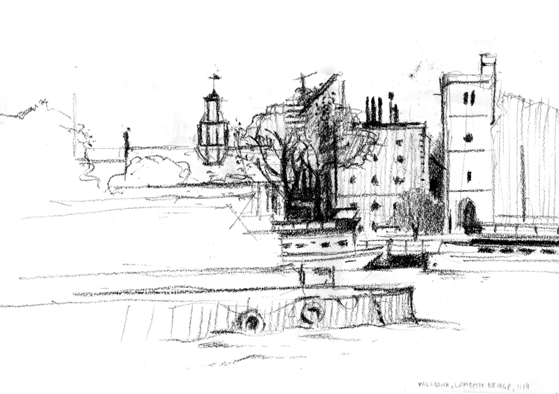 View of Thames from Millbank, 11.14