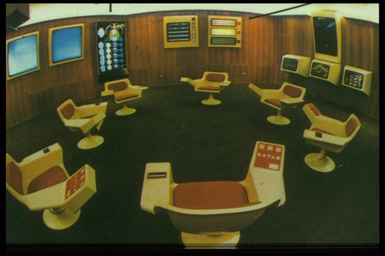 Cybersyn control room. Source: https://en.wikipedia.org/w/index.php?curid=12937653