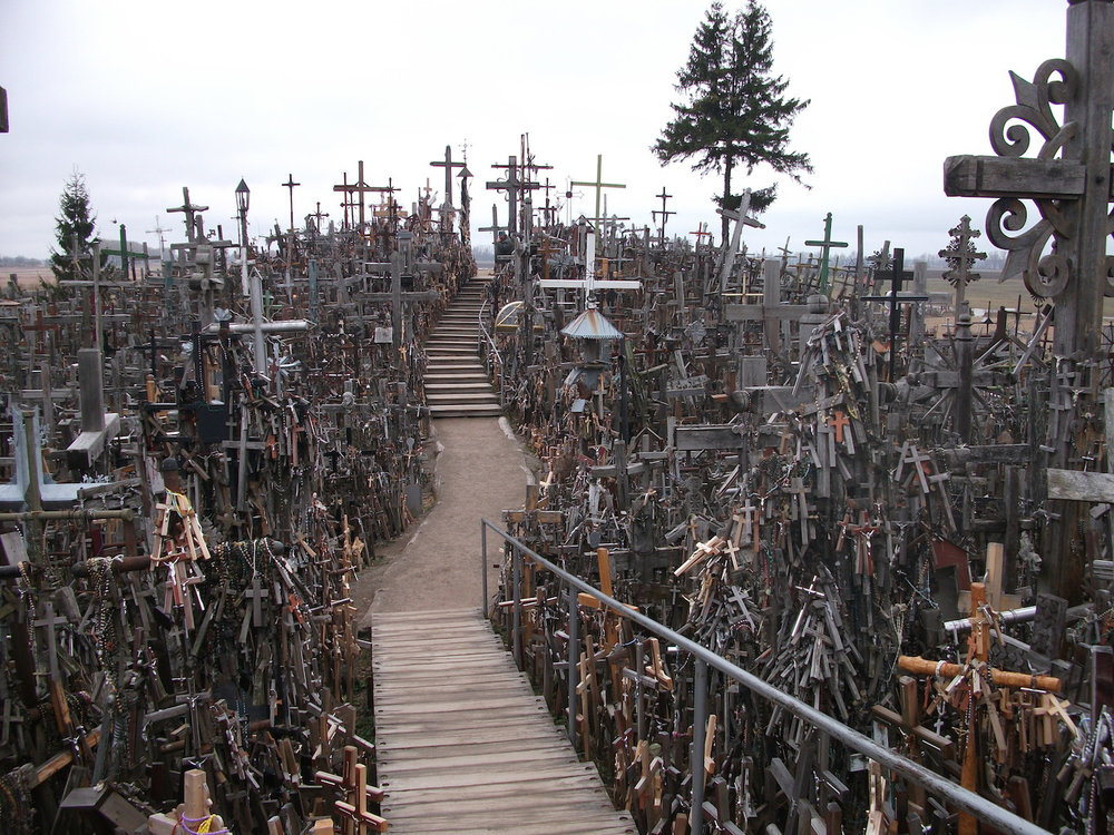 Hill of Crosses, Lithuania. A lot of crosses. What happens when we pile them up?