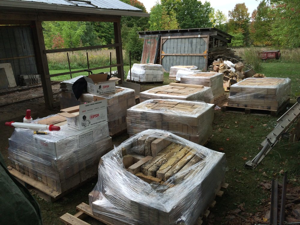 Step 8: Grind and stack bricks on pallets. Stretch wrap and prepare for delivery.