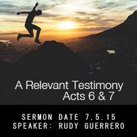 A Relevant Testimony