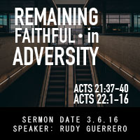 Remaining Faithful in Adversity