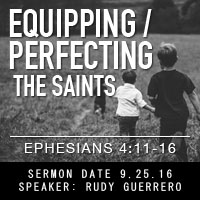 Equipping and Perfecting the Saints