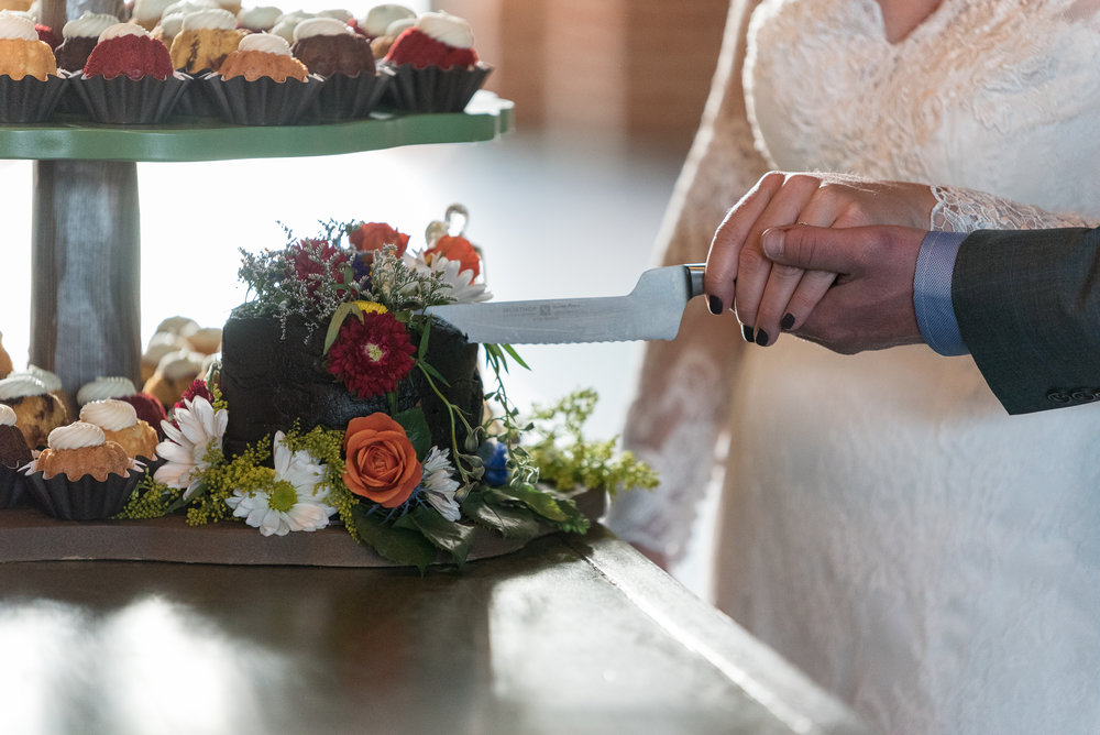 Nothing Bundt Cake and cupcakes at a wedding in Denver, Colorado at Mile High Station