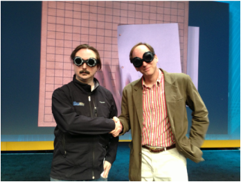 John Hodgman advised protecting ourselves from the rays at the 2013 IBM Connect closing session.