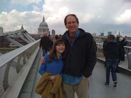 Jo and I test out the Millennium Bridge in London. Seems OK!