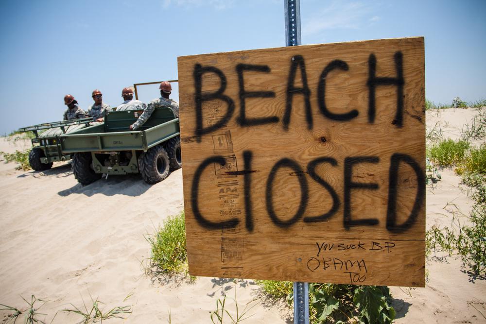 """Beach Closed"" Sign"
