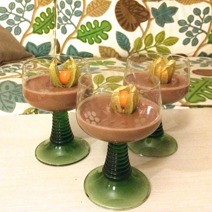 Choklad-pannacotta