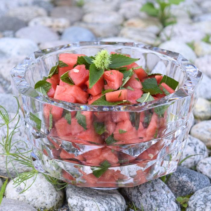 melon och mynta salsa