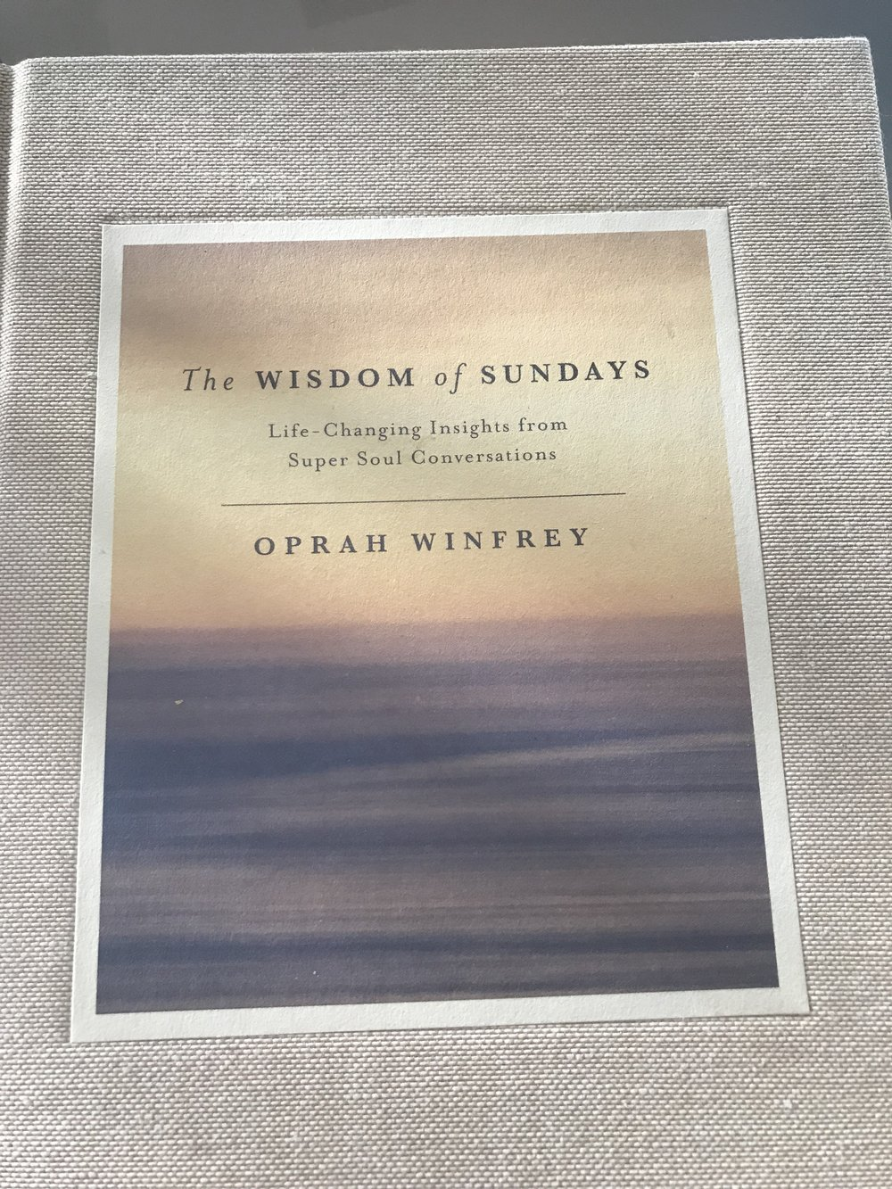oprah winfrey the wisdom of sundays