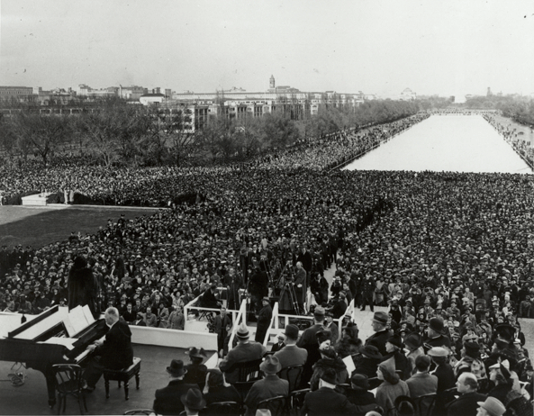 Marian Anderson's historic performance on the steps of the Lincoln Memorial