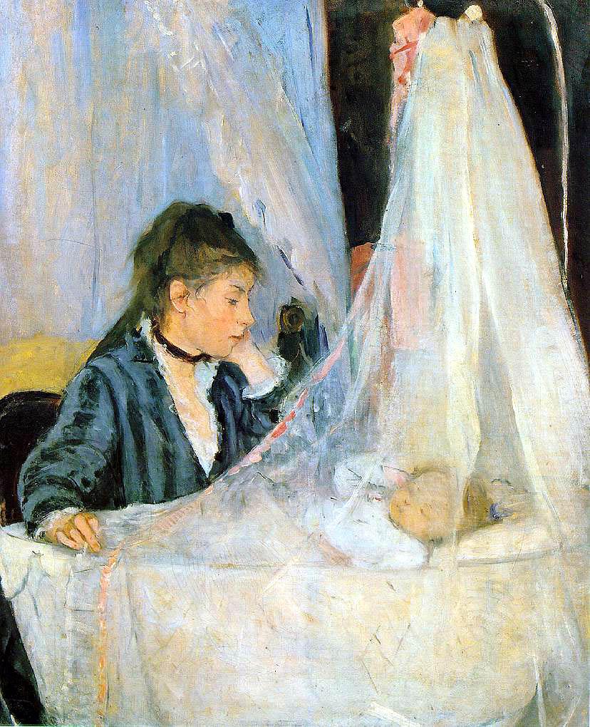 Berthe Morisot,  The Cradle,  1872,  Musée d'Orsay