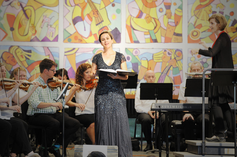 Annie Schwartz performs as soloist during the 2016 Sing with Us! Photo credit: Paul Purpura