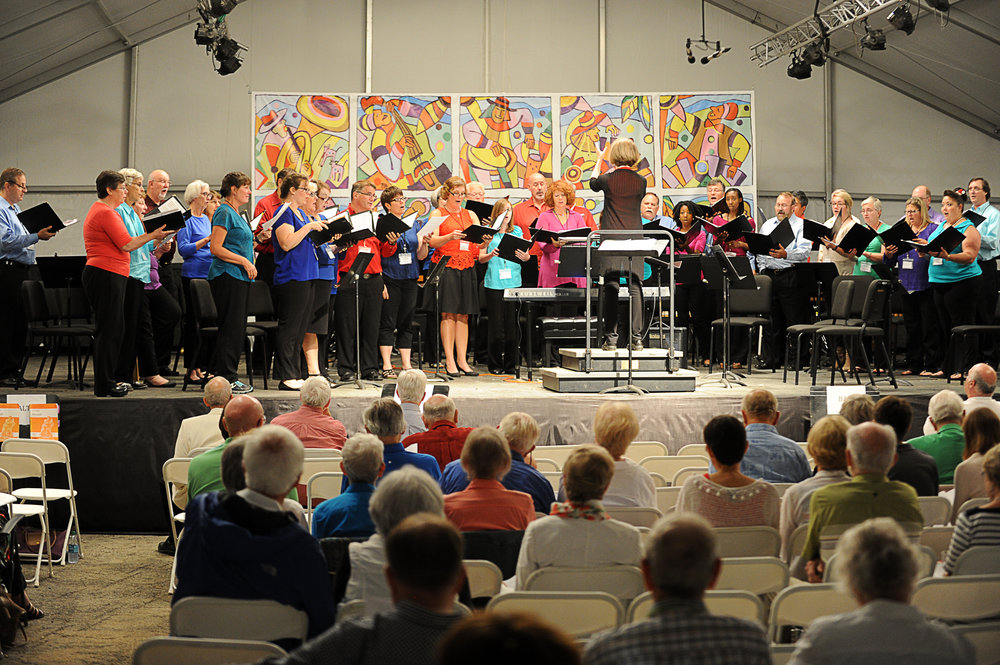 The Richmond Symphony Chorus participates in the annual Sing with Us! Photo credit: Paul Pupura