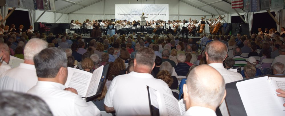 Sing with Us! 2018. An epic performance of Beethoven's Symphony No. 9 – in surround sound. 100 singers, full orchestra, international soloists – all on top of a mountain!