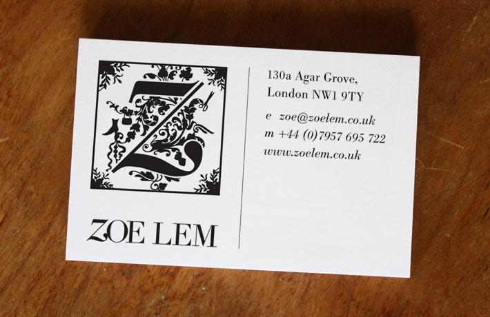 Zoe Lem business card