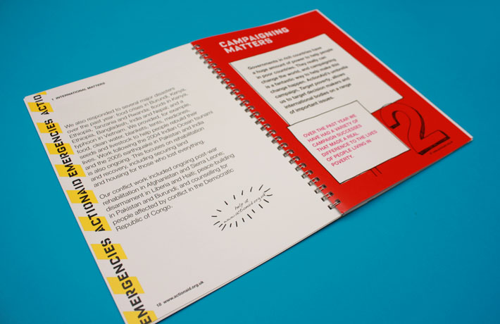 ActionAid Annual Review - spread