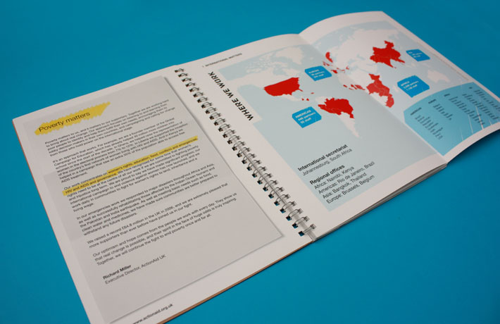 ActionAid Annual Review - throw out map
