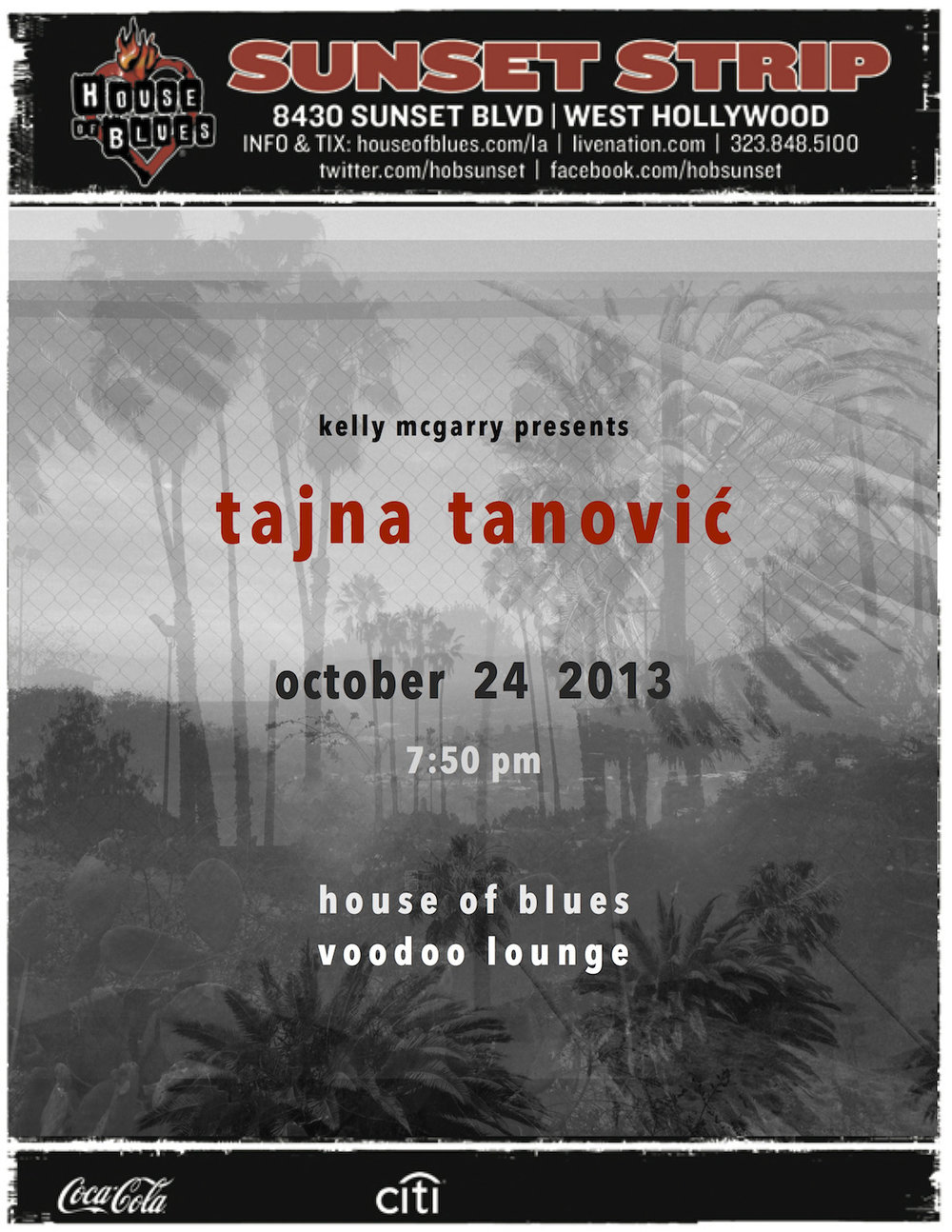 Back @ House of Blues on October 24    © 2013 Tajna Tanović. All Rights Reserved.