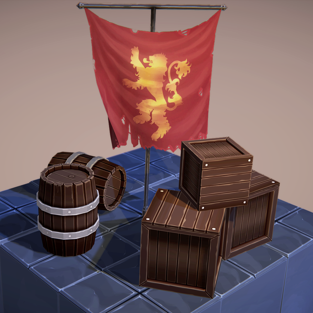 Stylized Crates and Barrels for a personal project