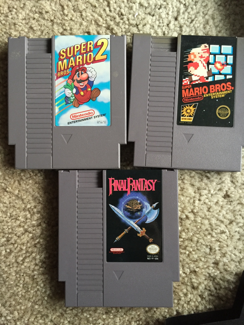 These were in a box labeled $5 each. I'm not a gamer by any means but I somewhat know what to look for. I just skimmed through the games in the box and found the ones that stood out. Mario is always an easy sell and FINAL FANTASY ON NES?! No brainer here. Not sure if I want to sell these. I might just ship them to my brother in MN.