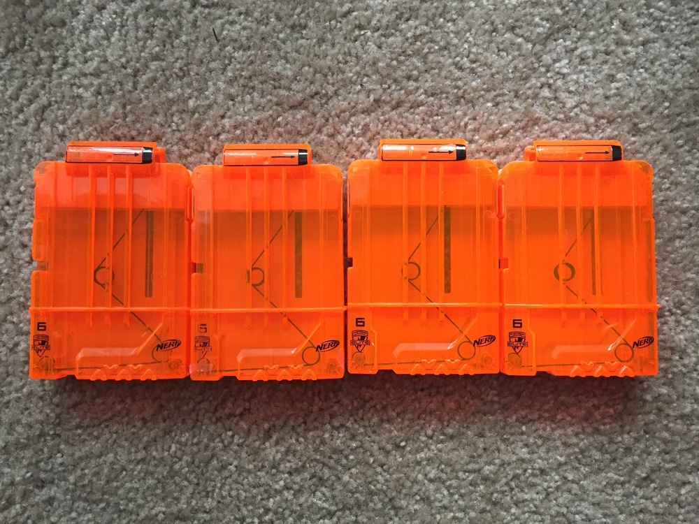 Finally sold those NERF clips I found at that estate sale a couple of posts back. I offered free shipping which ate into profits a little. Just put them in a bubble mailer and off they went. $6 profit.